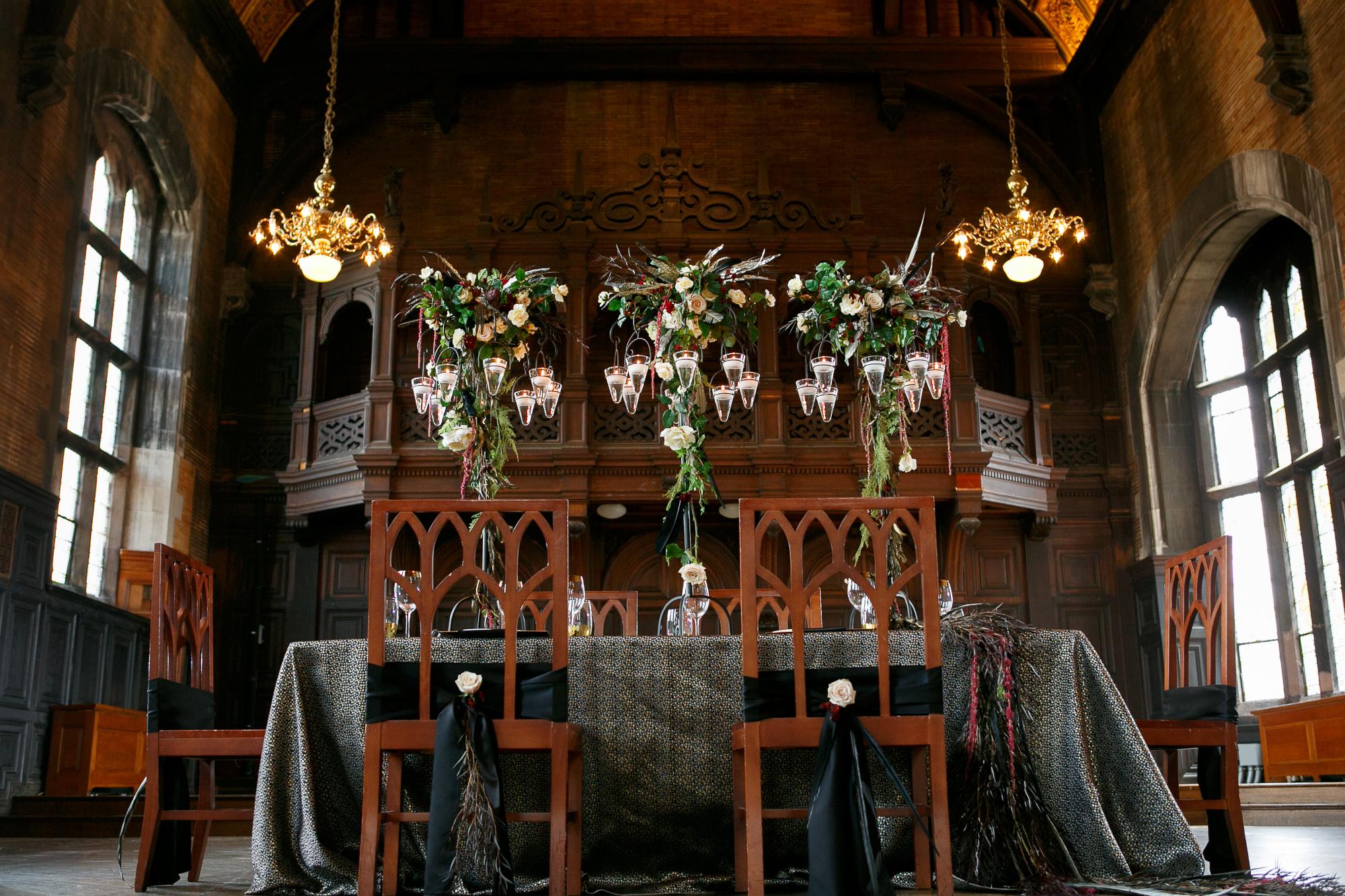 05 Highline Hotel Wedding Inspiration Floating Candles Feathers Wedding Drama.jpg