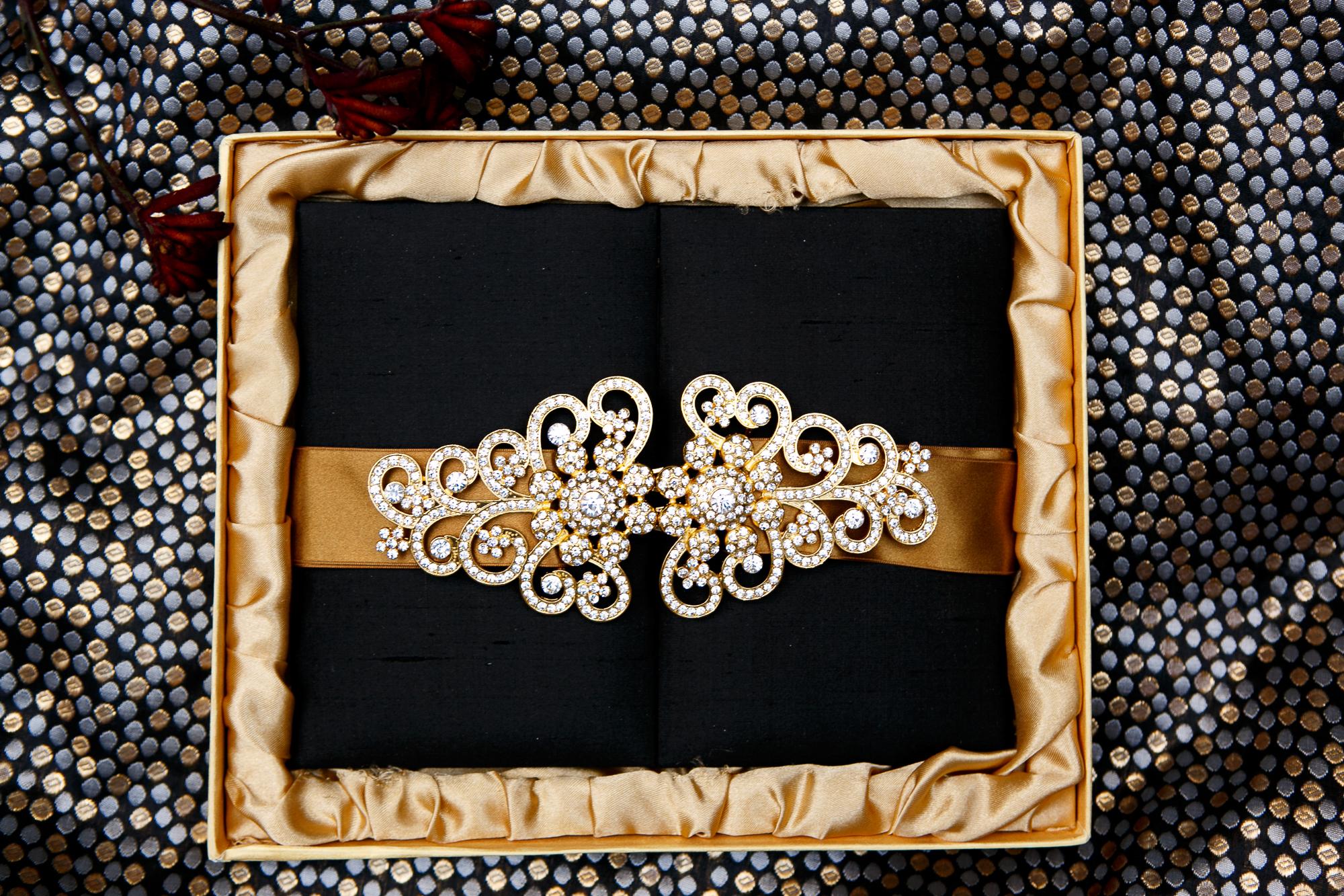 11 Custom Wedding Invitation Black Satin Box Wedding Designer.jpg