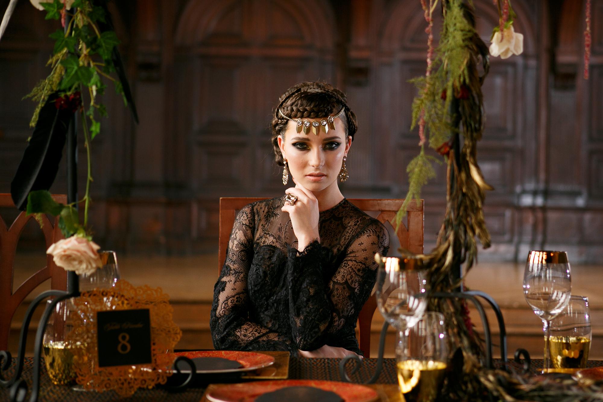 13 Black Lace Wedding Dress Evil Queen Wedding Inspiration.jpg