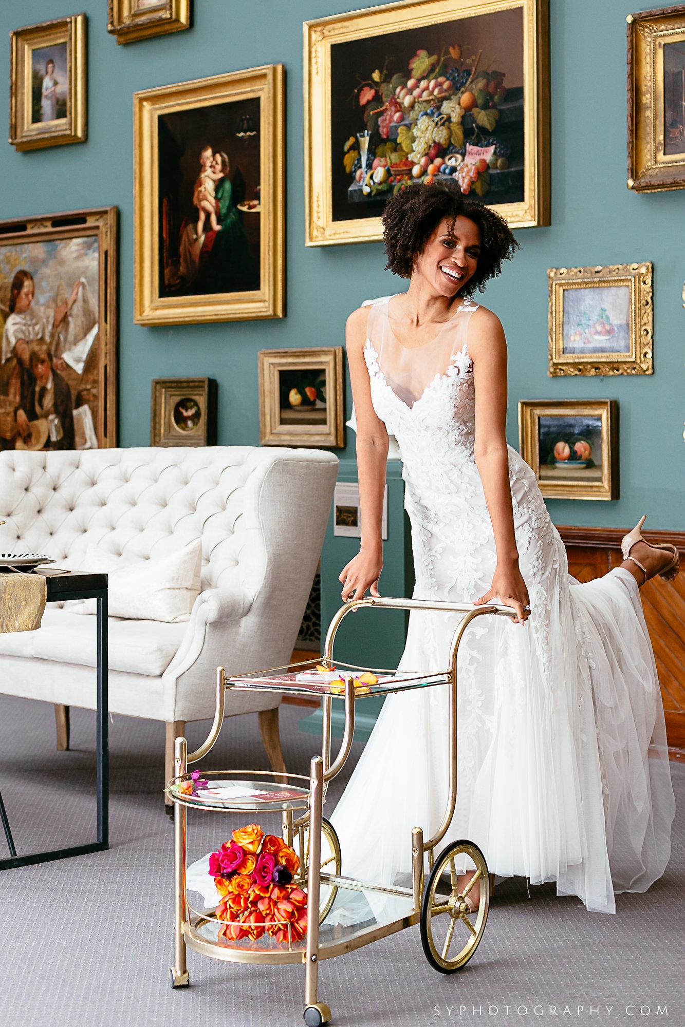 07 PAFA Spring Wedding Vintage Drink Cart Orange Pink Philadelphia Wedding Designer.jpg
