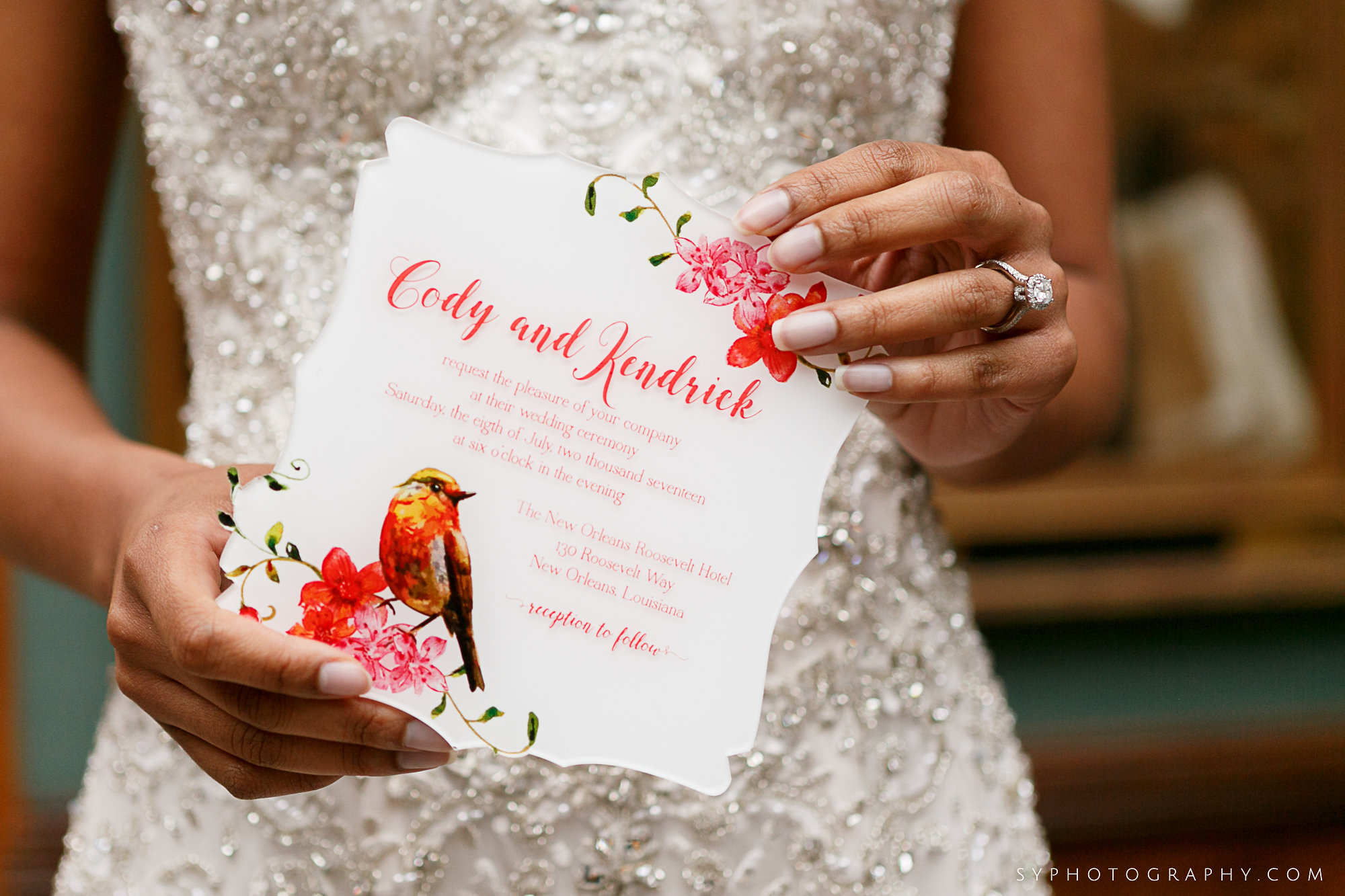 07 PAFA Spring Wedding Orange Pink Acrylic Invitation Philadelphia Wedding Designer.jpg