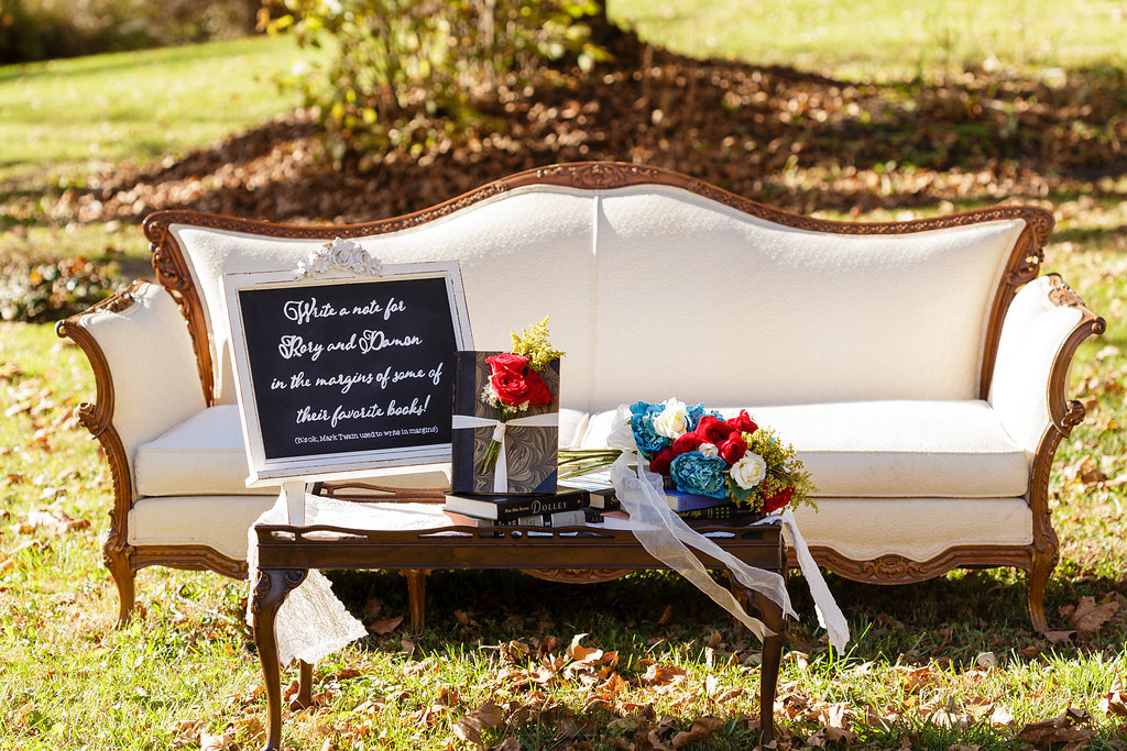 12 Vintage Furniture Guest Book Alternative Gilmore Girls Wedding.jpg