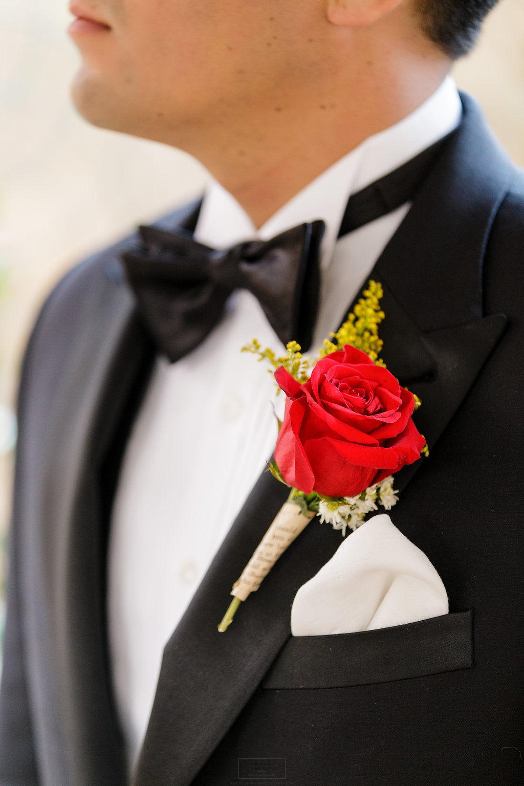 16 Book Lovers Boutonniere Red Rose Yellow Accent Old Book Aribella Events.jpg