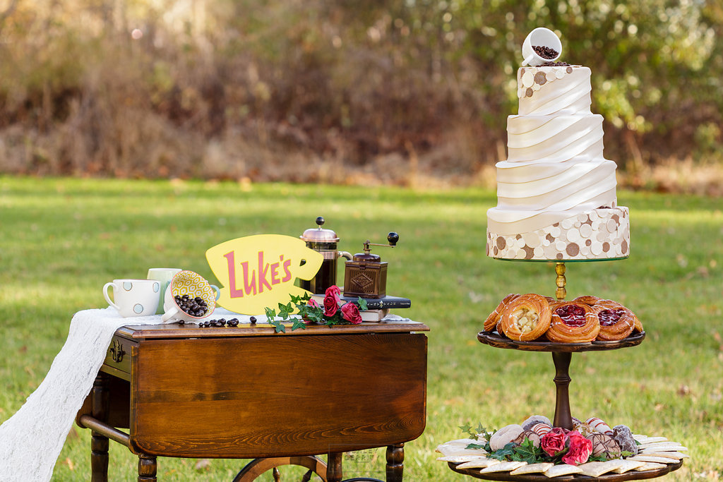26 Gilmore Girls Inspired Wedding Coffee Cart Wedding Dessert Station Danishes Donuts PopTarts Coffee.jpg