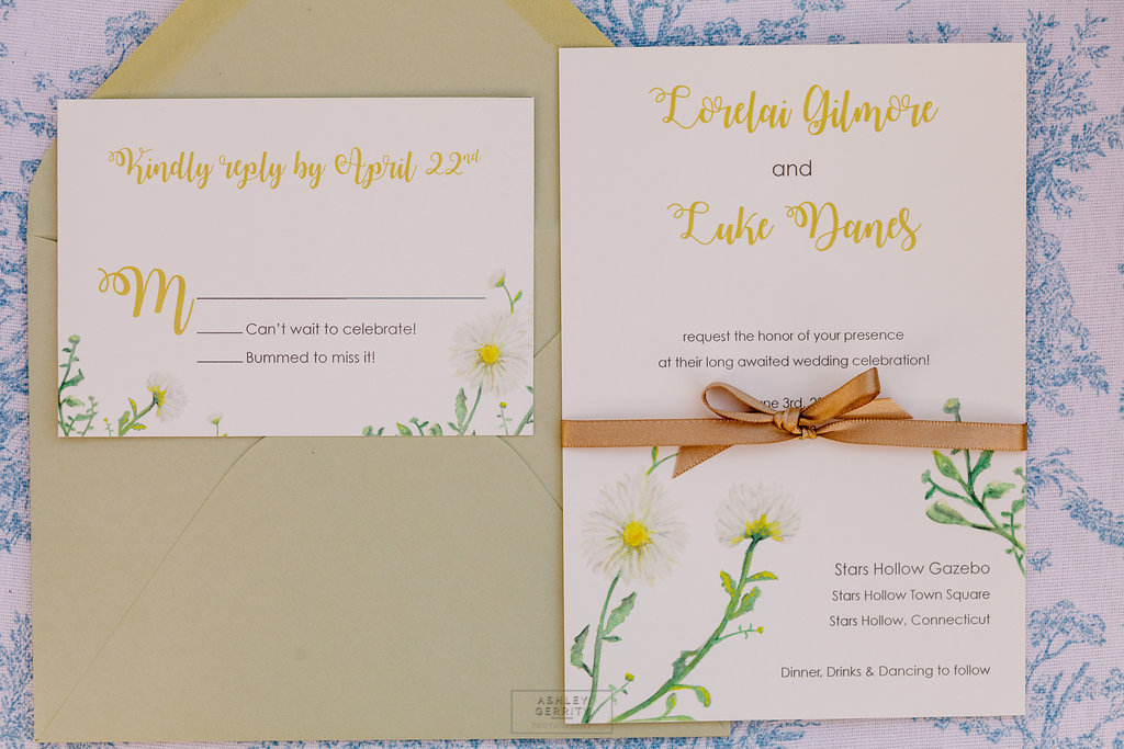 03 Daisy Wedding Invitation Gilmore Girls Wedding Inspiration.jpg