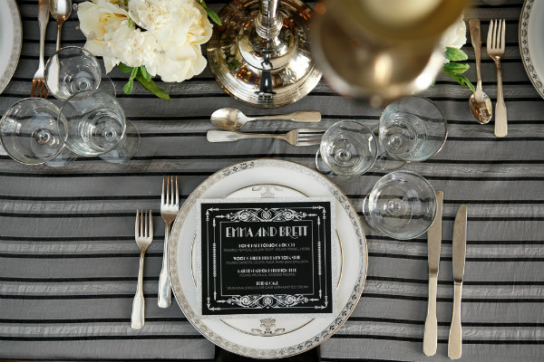 14 Great Gatsby Wedding Centerpiece Table Design Art Deco Menu.jpg