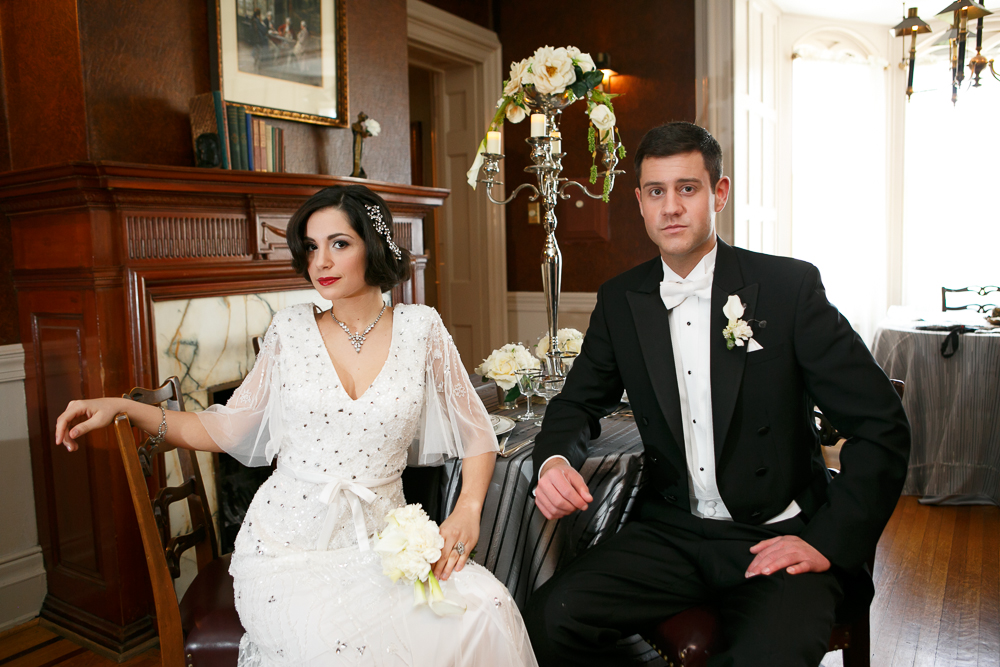 15 Great Gatsby Wedding White Tie Black Tux Wilmington Wedding Flowers.jpg