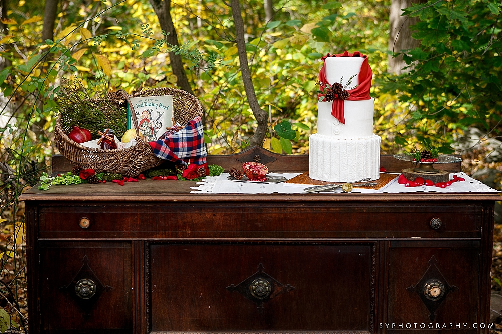 18 Philadelphia Wedding Florist Vintage Furniture Little Red Riding Hood Cake.jpg