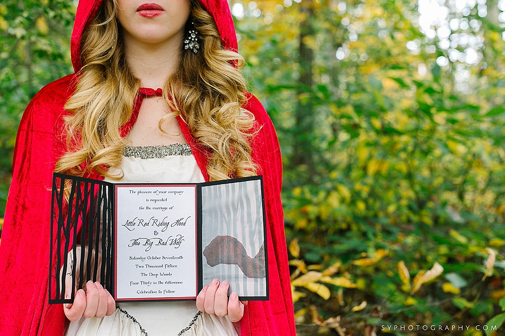 04 Philadelphia Wedding Designer Little Red Riding Hood Inspiration Custom Wedding Invitation.jpg