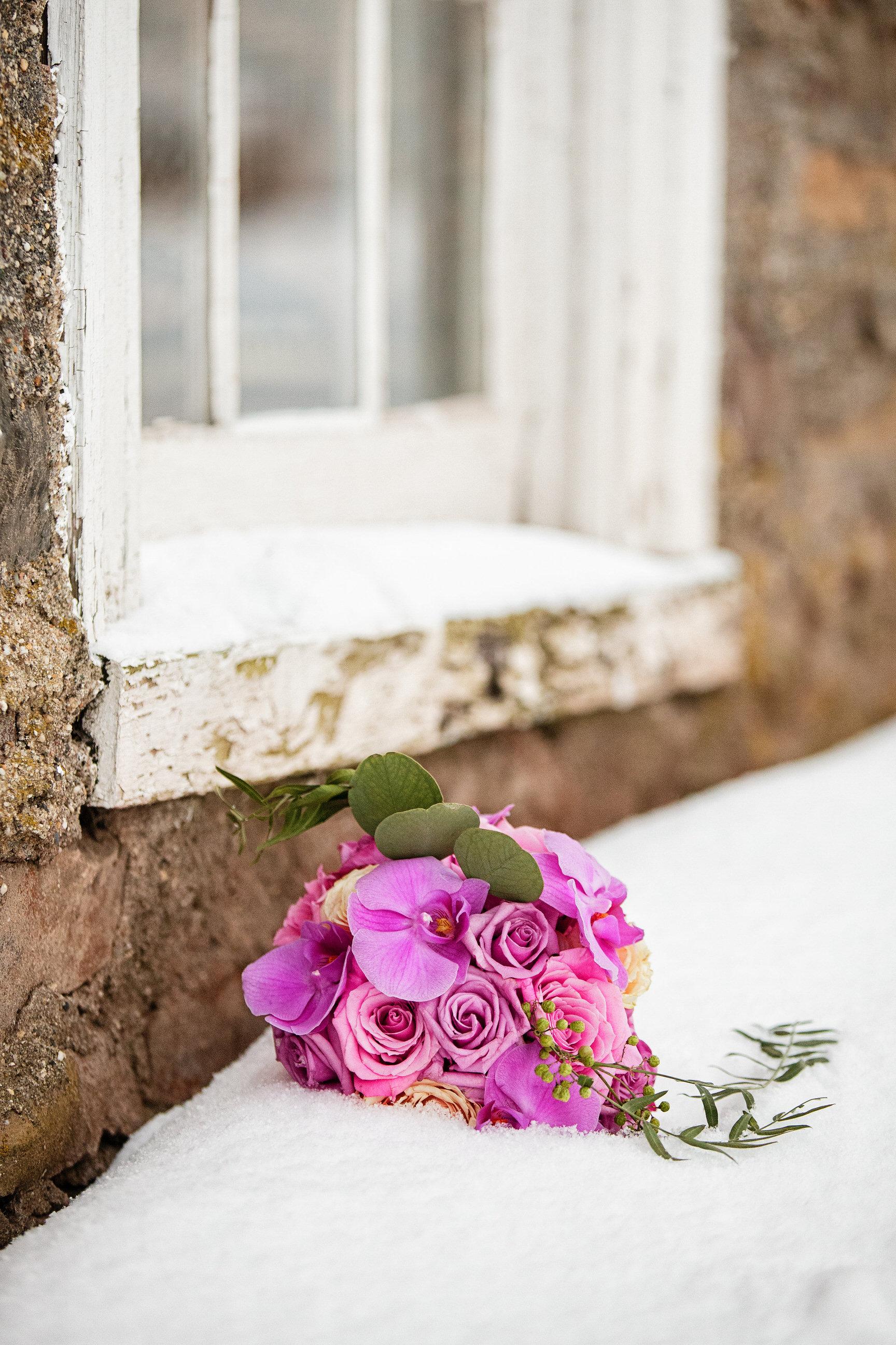 01 Radiant Orchid Bouquet in the Snow Winter Wedding Philadelphia Wedding Planner.jpg