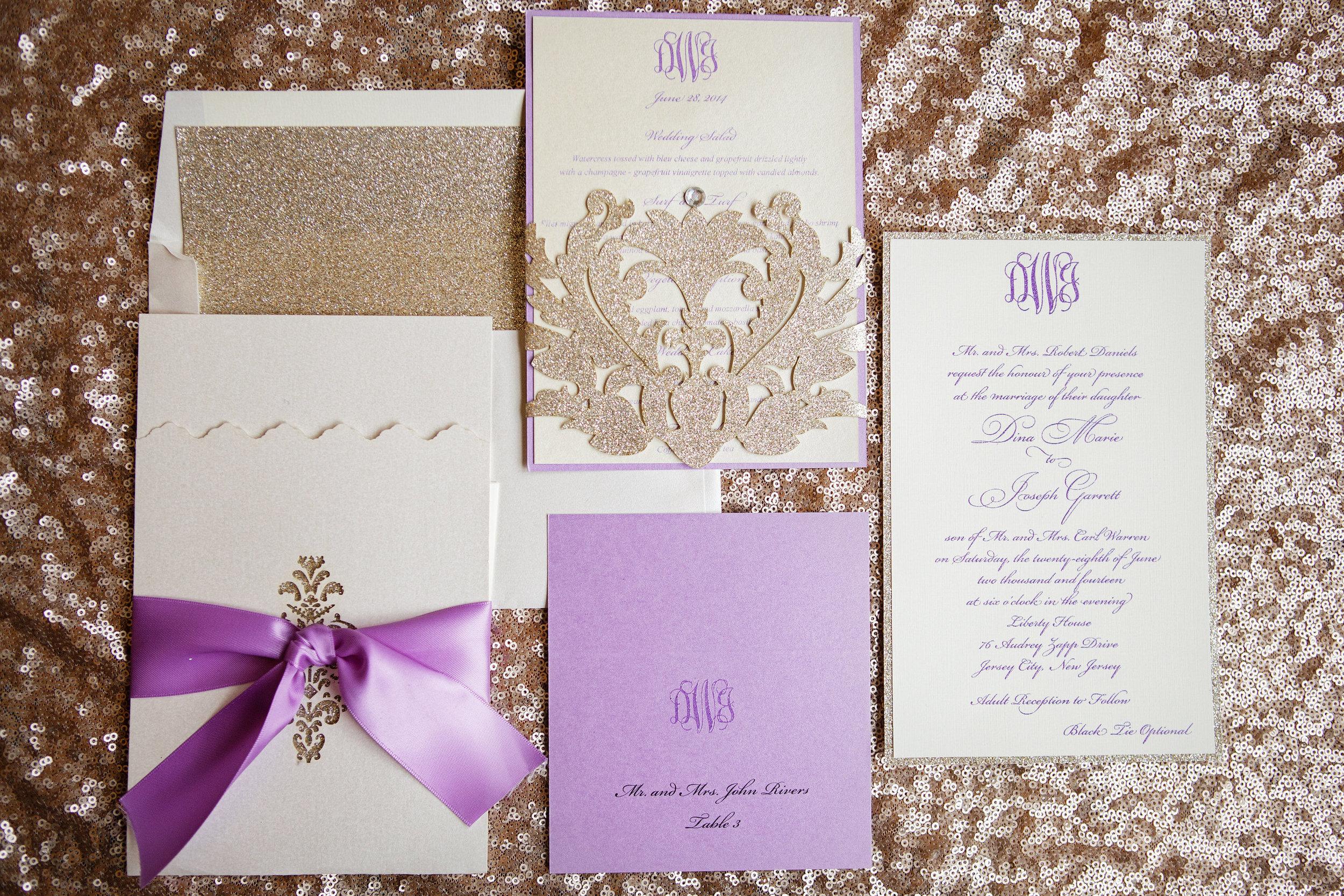 04 Gold Radiant Orchid Custom Wedding Invitation Philadelphia Wedding Planner.jpg
