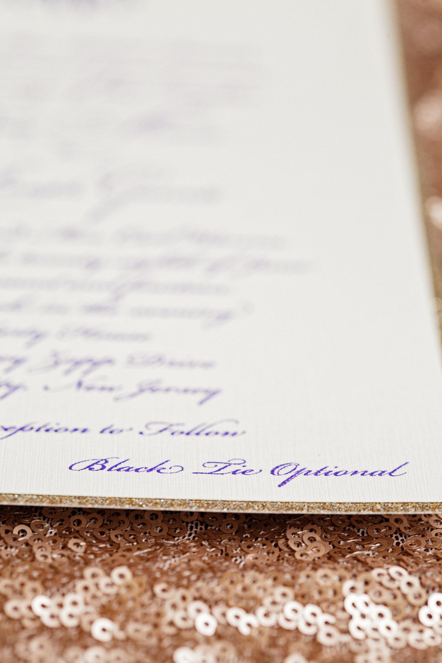 06 Custom Wedding Invitation Black Tie Gold Sequin Philadelphia Wedding Florist.jpg