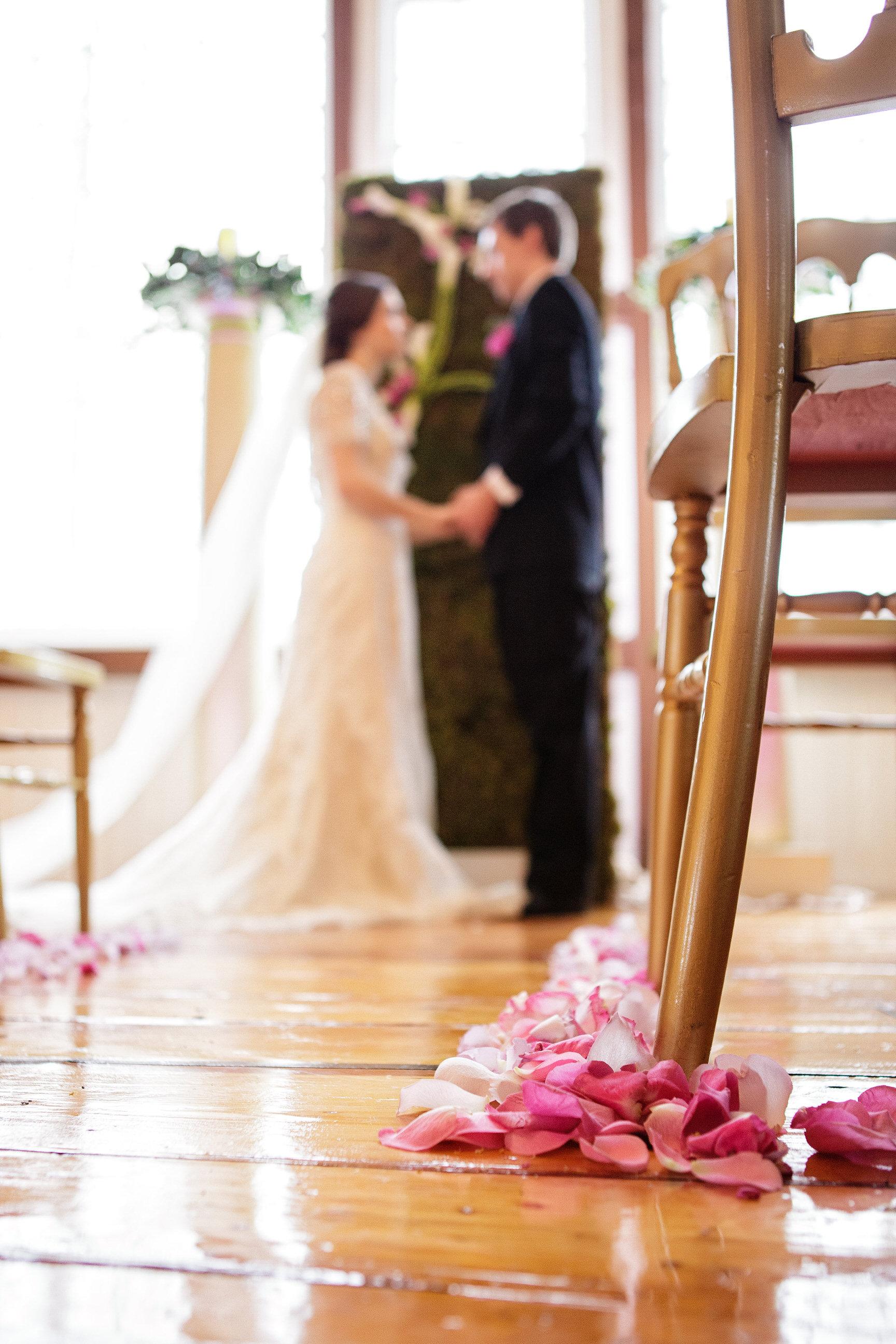 07 Flower Wall Ceremony Monogram Backdrop Radiant Orchid Philadelphia Wedding Florist.jpg