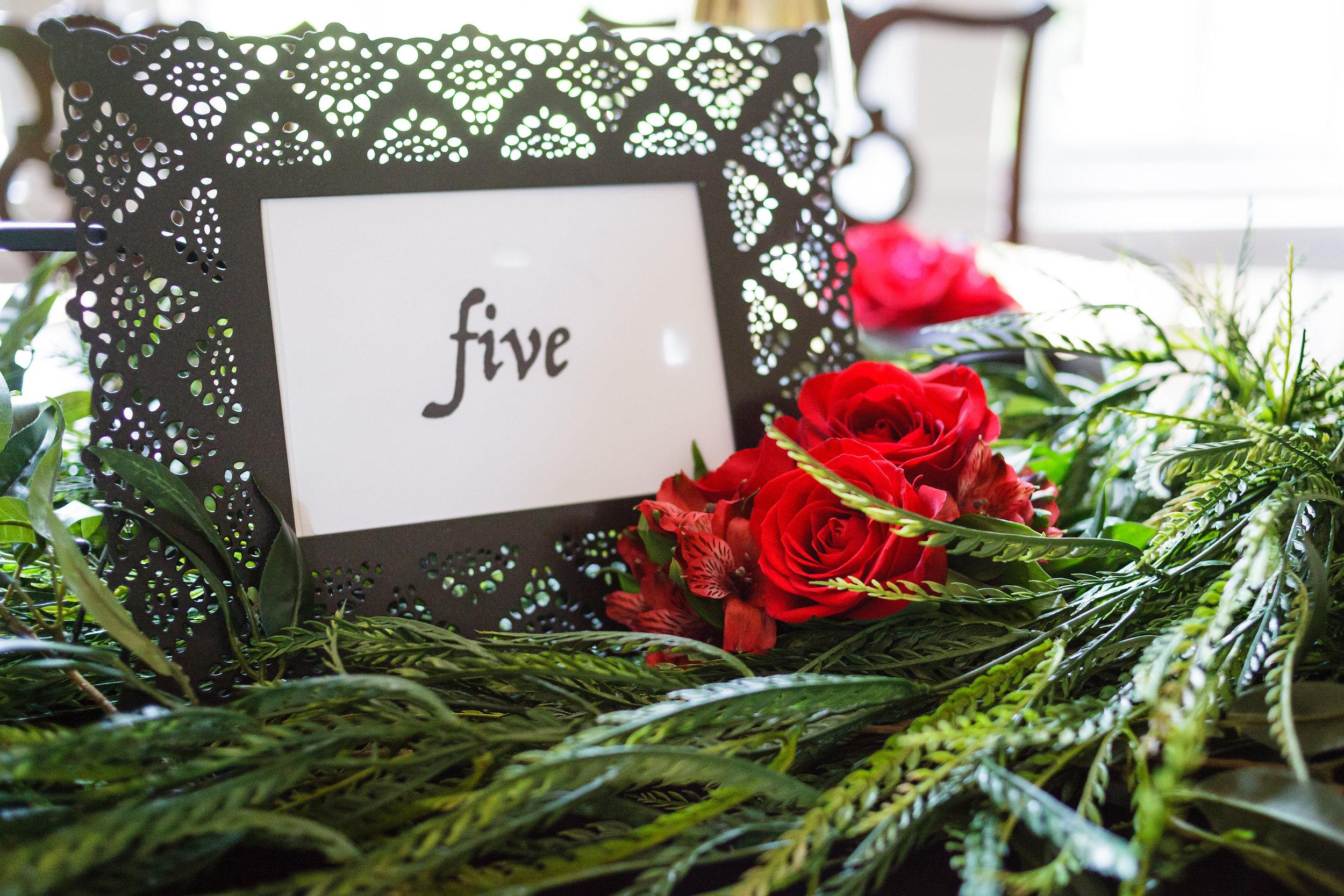 07 Spanish Rose Table Number Wedding Black Lace Red Rose Greenery Philadelphia Wedding Florist.jpg