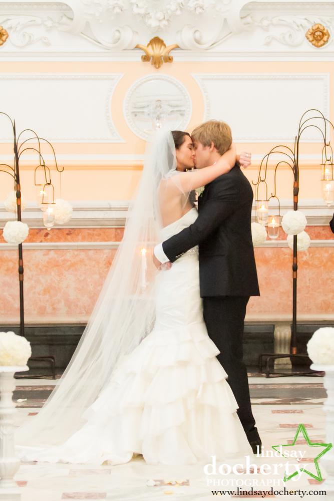 22 Philadelphia Wedding Please Touch Museum Ceremony Kiss.jpg