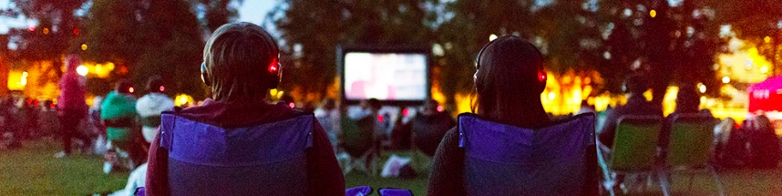 OUTDOOR MOVIES - Just connect to a DVD player/projector and stream the movie to everyone's headphones.