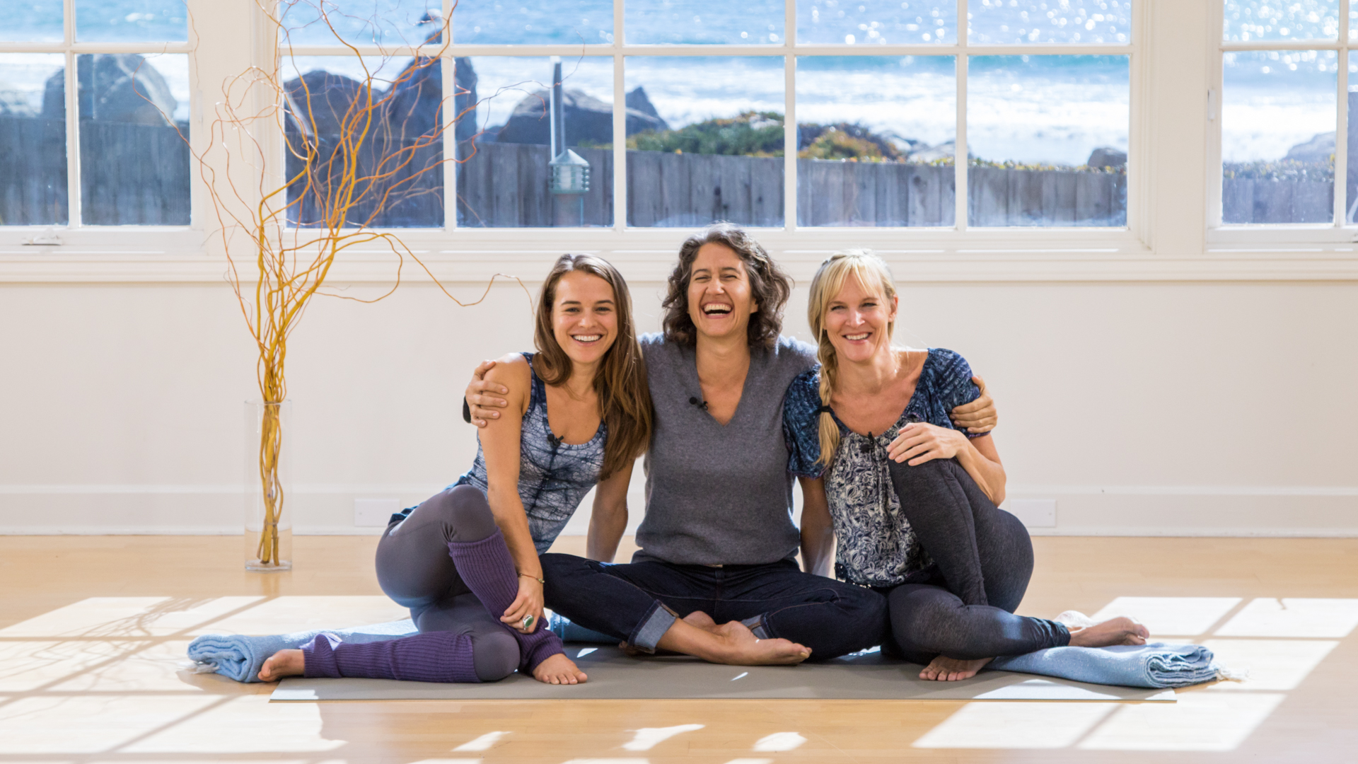 With Alana and Eden at Yoga Anytime.