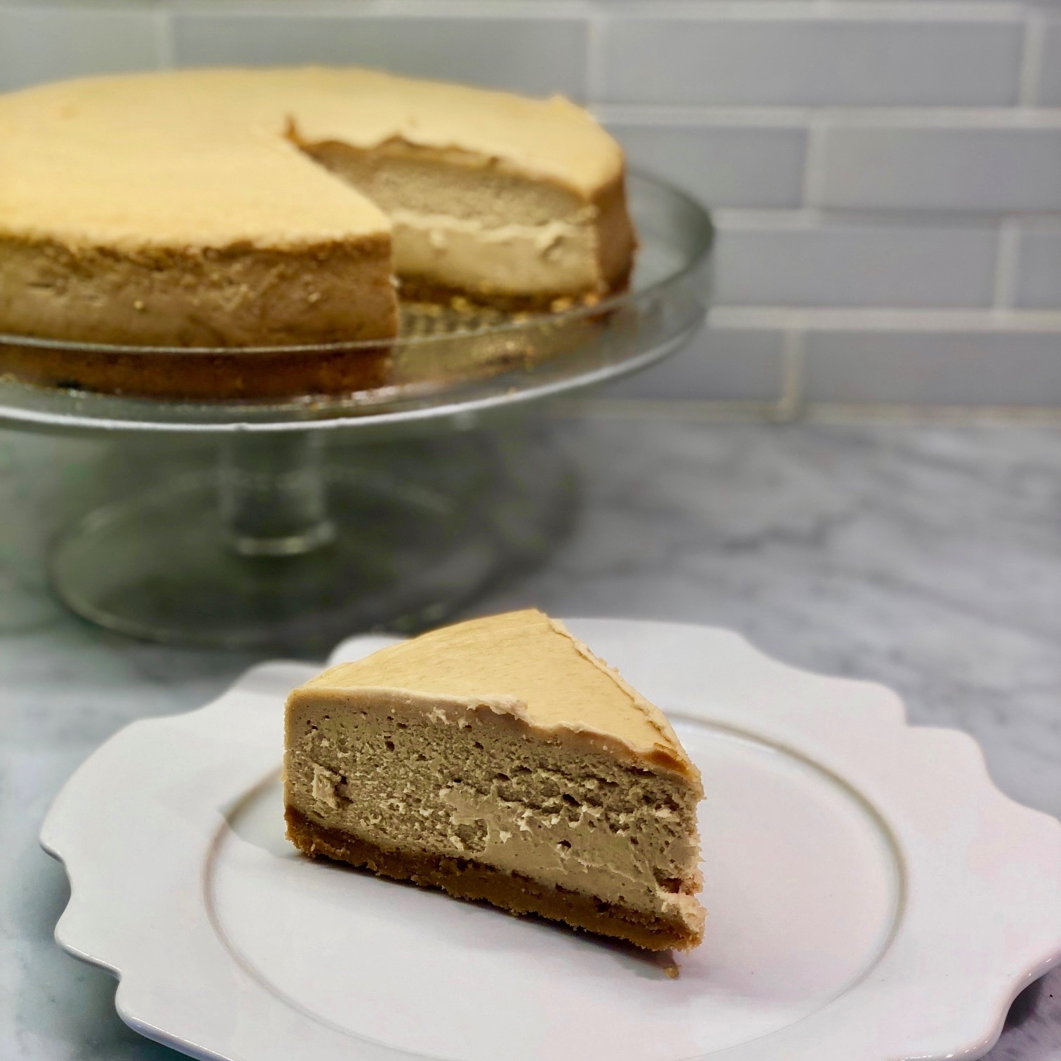 Cookie Life Recipe of the Day |Peanut Patriot Cheesecake - Smooth and creamy peanut butter cheesecake with a Peanut Patriot cookie crust.