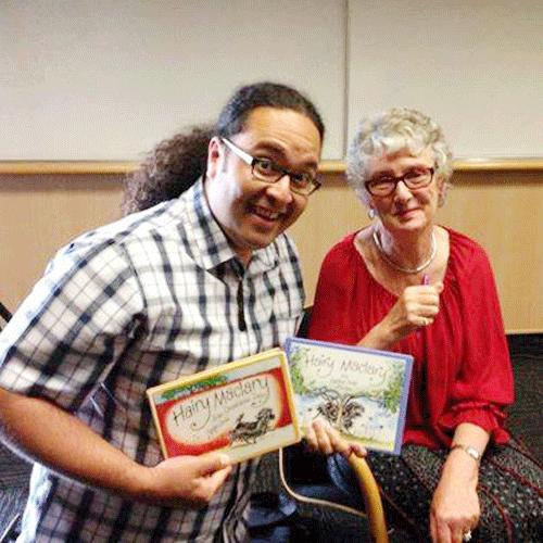 Chris with Author Dame Lynley Dodd