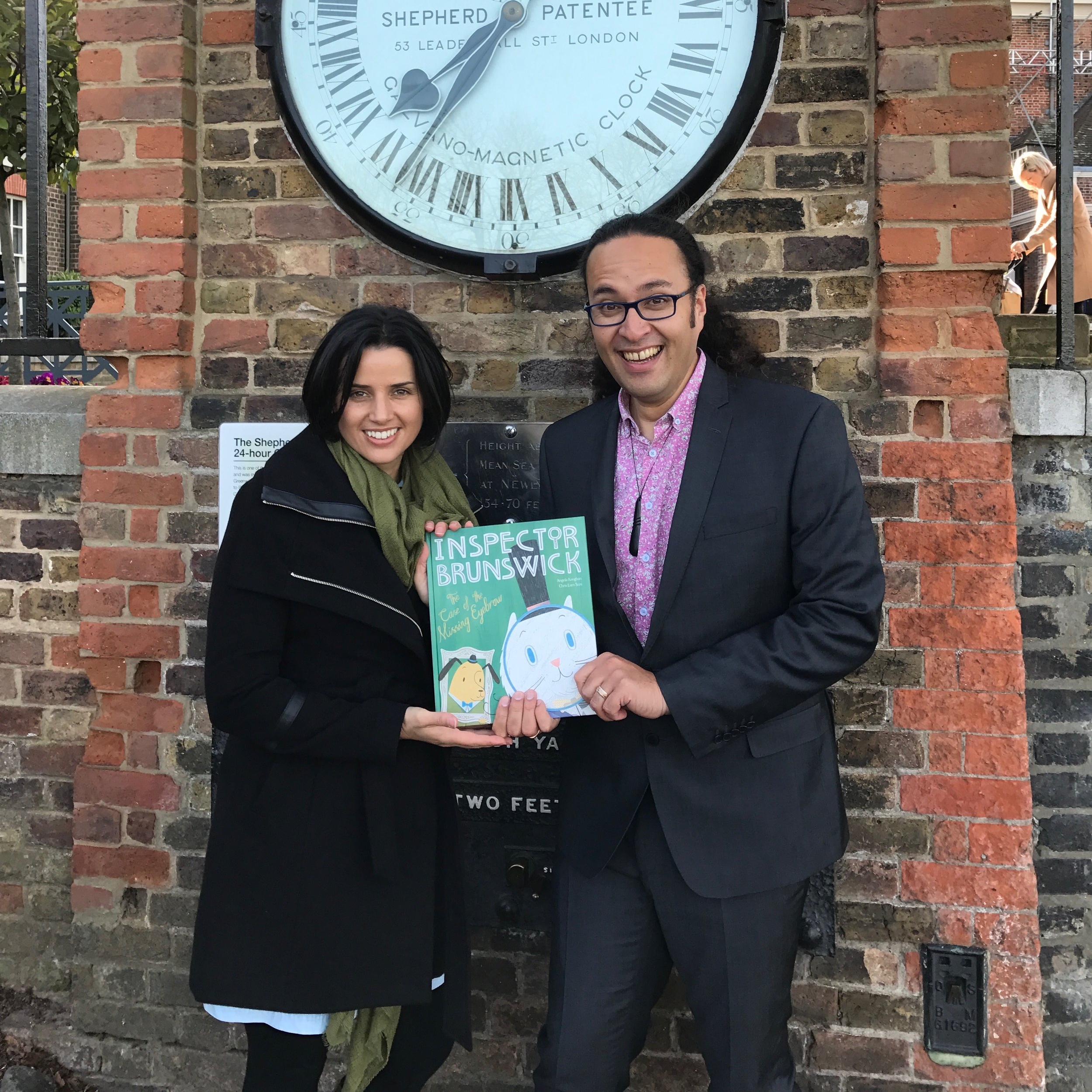 Angela and Chris debut their book in London