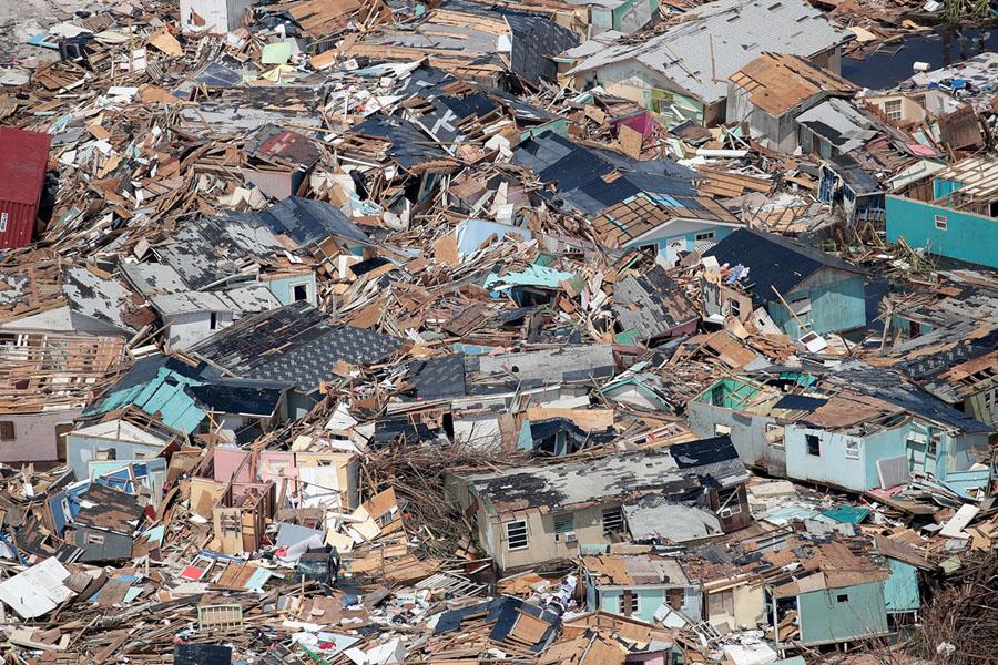 Destruction in Marsh Harbour after Hurricane Dorian (Image via Getty / Scott Olson)