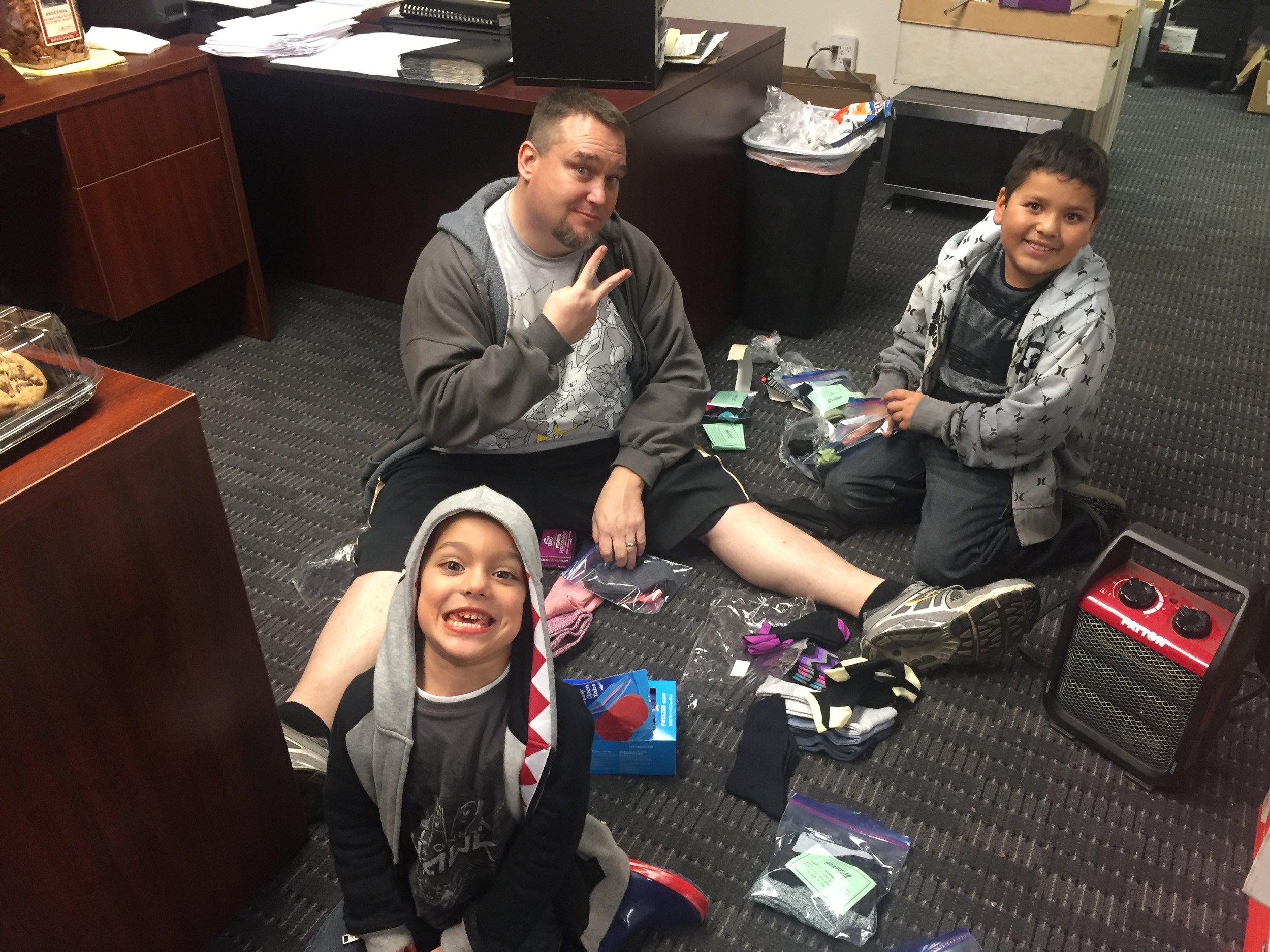 The kids like to help give back too!!