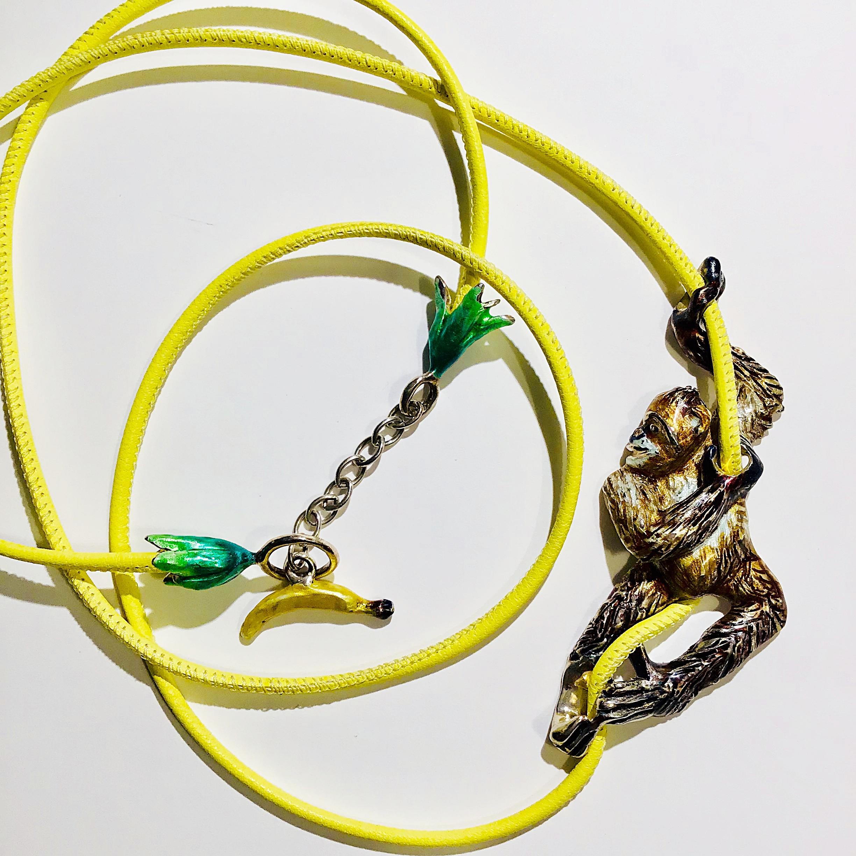 Affenkette mit Lederband