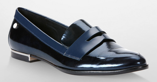 when you want to be basic with the clothes but fancy with the shoe. yes, metallic can be fancy :) --- calvin klein - $109