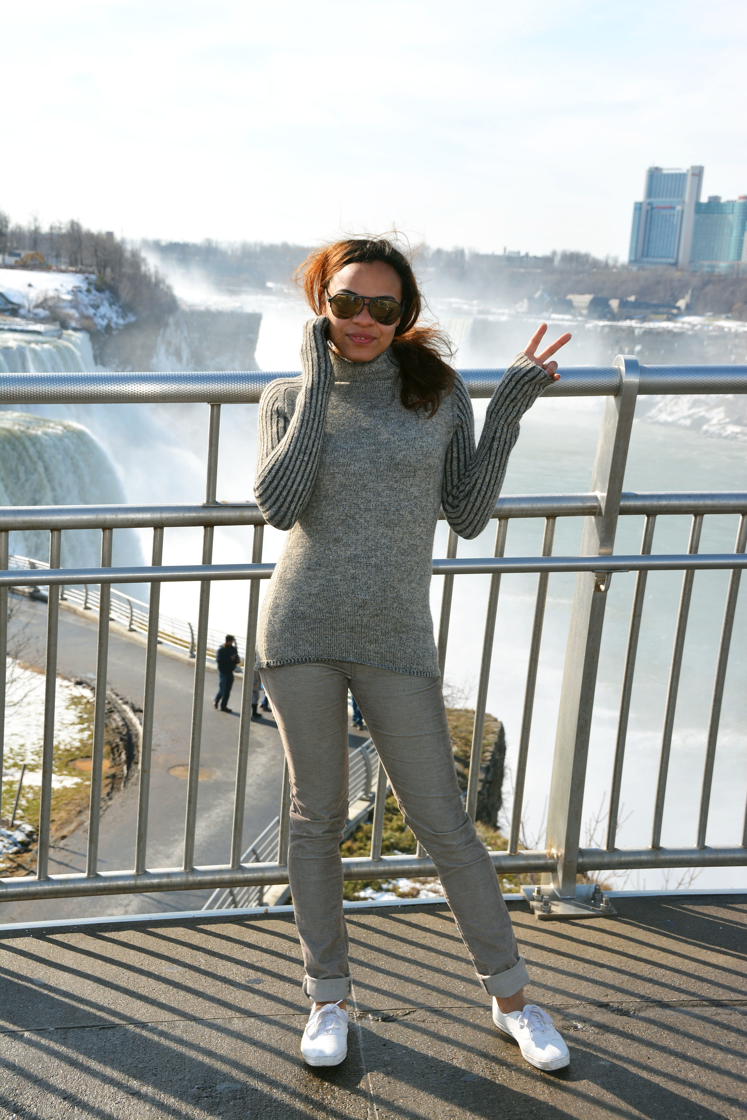 wearing: BDG corduroy pants, Ked's shoes, Zara turtleneck knit, Dolce & Gabbana sunnies.