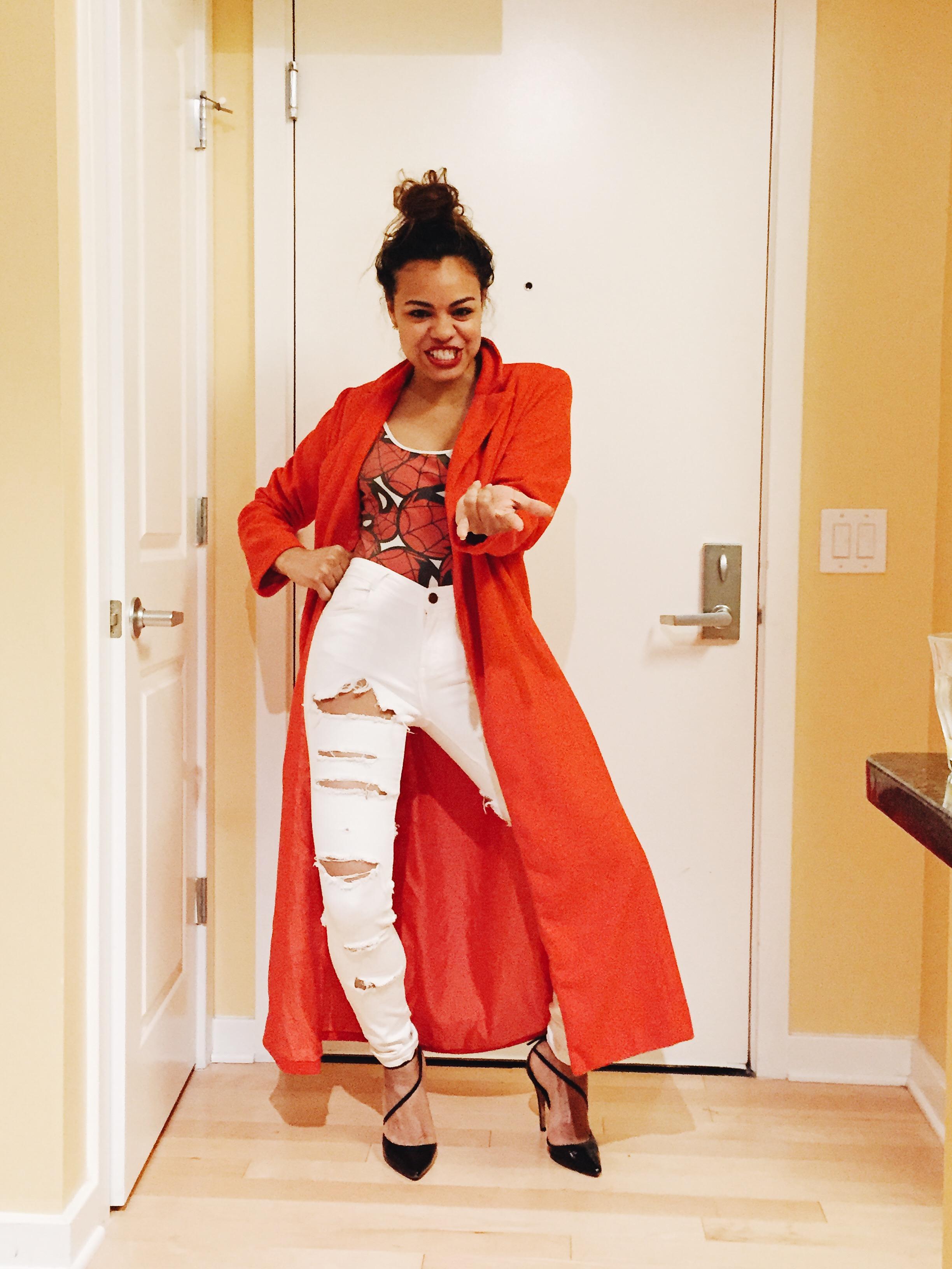wearing: ASOS bodysuit, ZARA denim, alice + olivia heels,