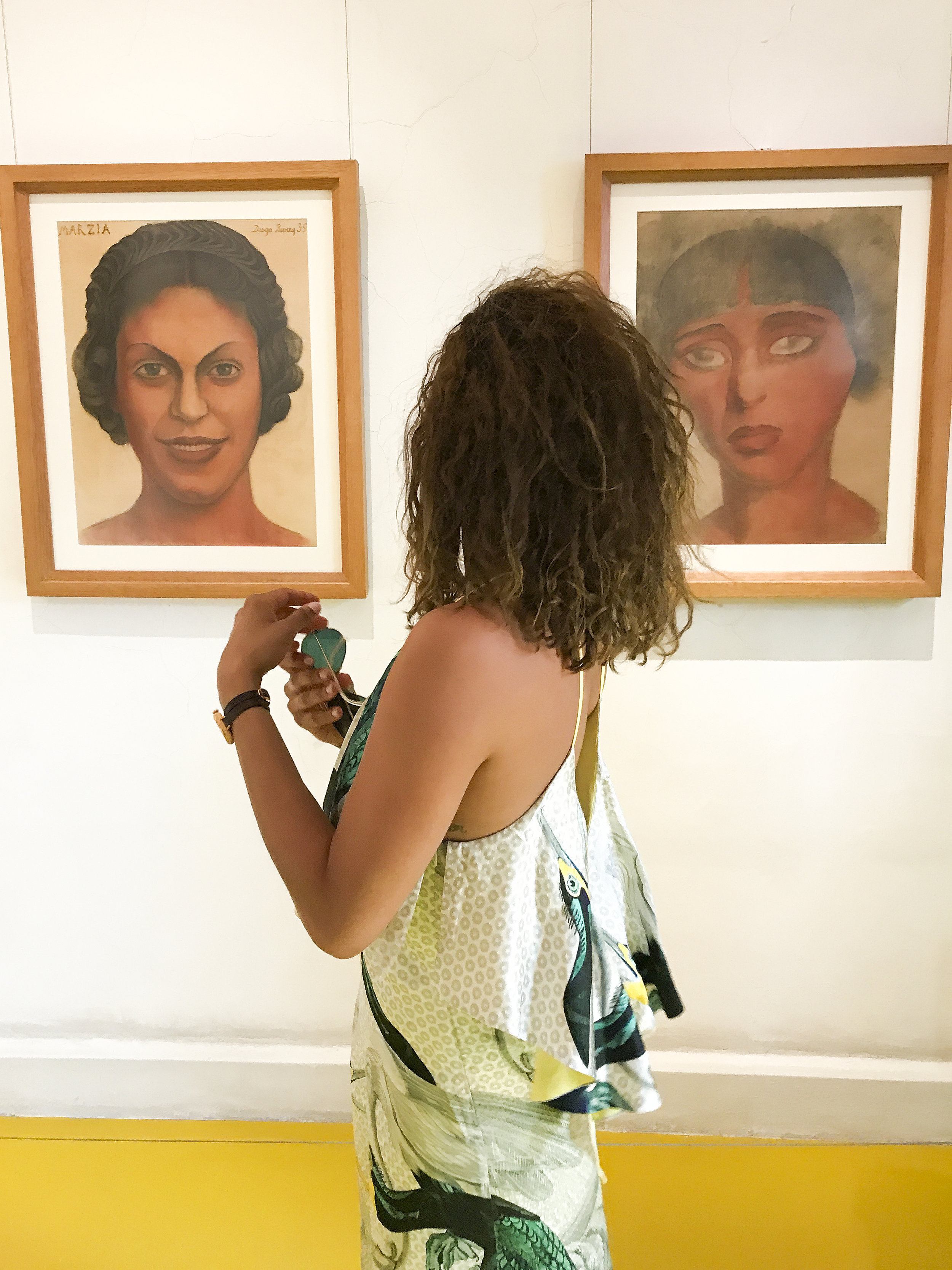 """Portraits by Diego Rivera in 1935 of """"Marzia"""" and """"Carmen"""""""