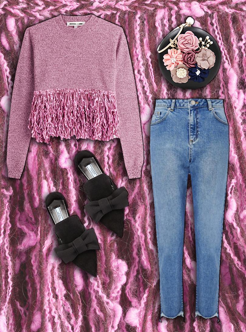 Sweater: McQ by Alexander McQueen , Shoes:  Prada , Jeans:  Missselfridge , Purse:  InDot