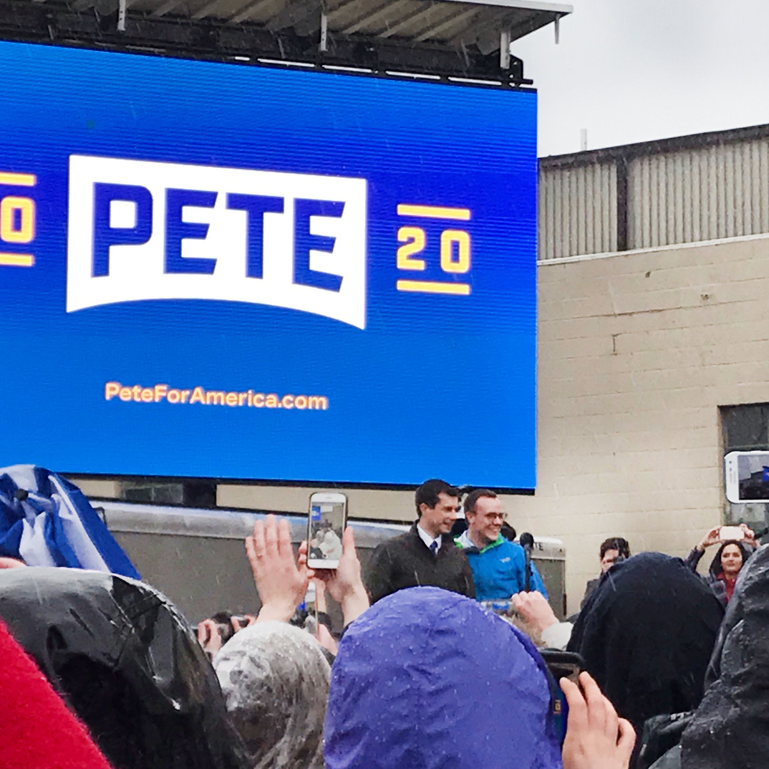 As a Hoosier, I was able to go to a rally for Pete Buttigieg's campaign announcement.  Photo by Eleanor Igwe