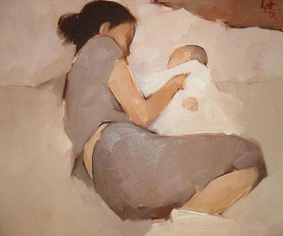 art by Nguyen Thanh Binh, a contemporary Vietnamese painter (b. 1954)