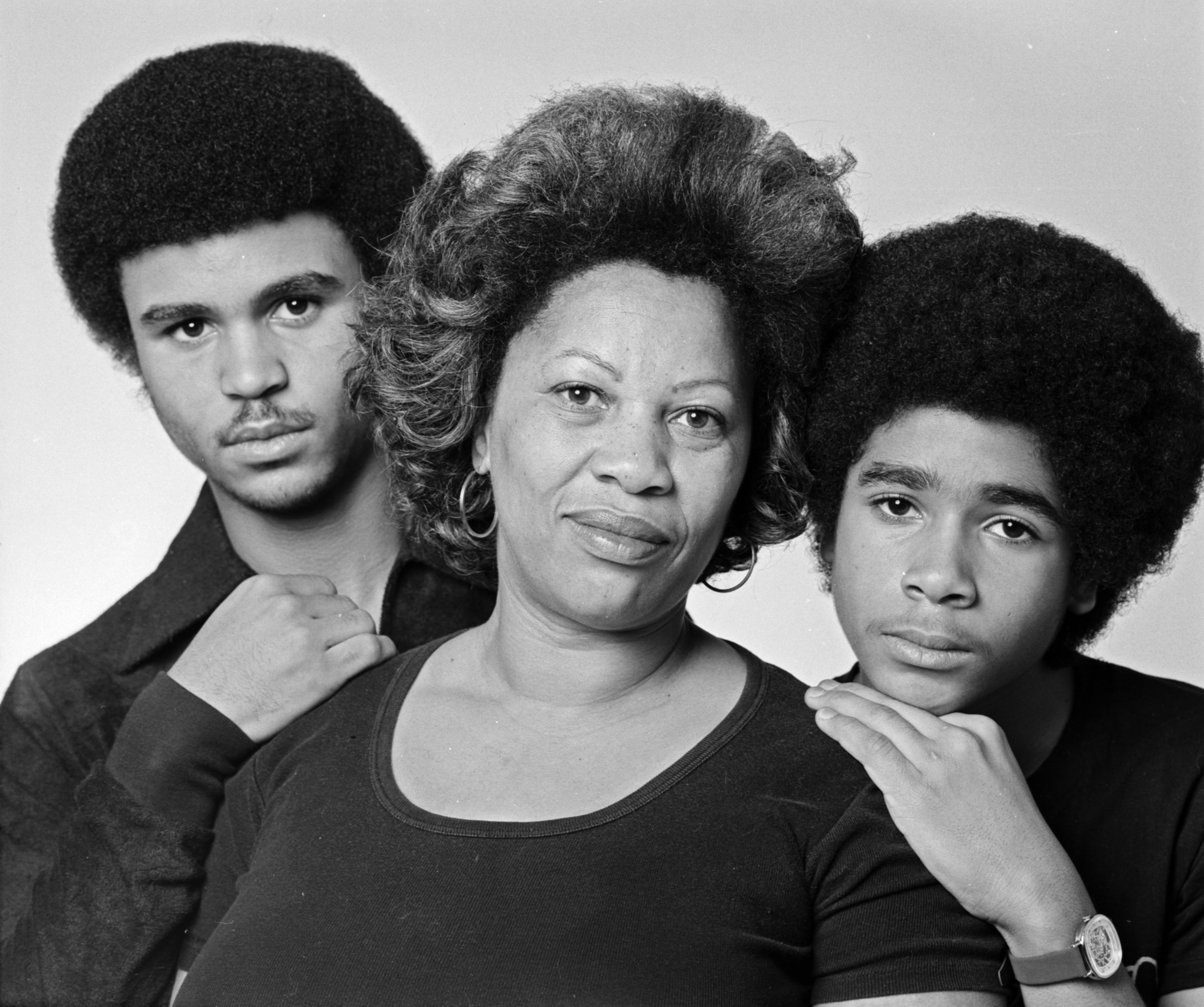Morrison with her sons Slade and Ford in December 1978. (Photo by Jack Mitchell/Getty Images)