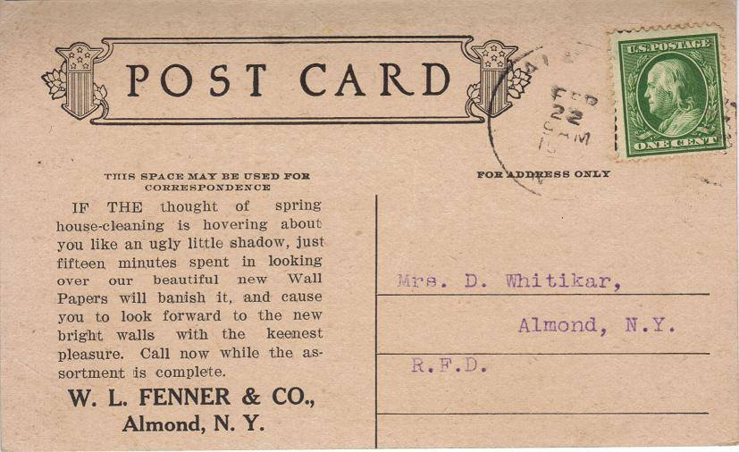 1910.  Courtesy of John David Fenner.