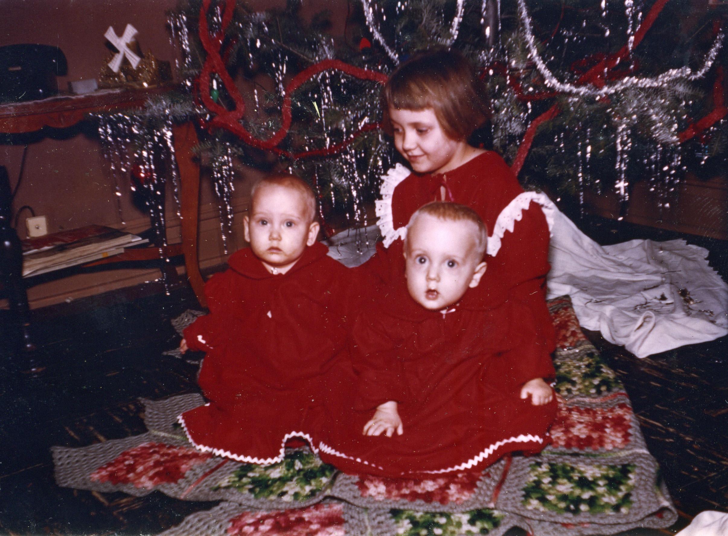 Linda, Tom, and Gerri, December 1954.