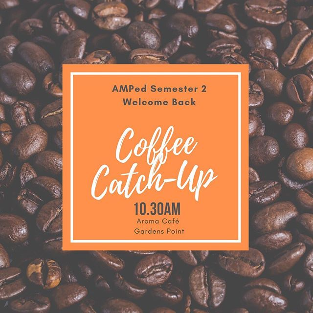 It's never too early in semester to get CAFFEINATED ☕️ and meet some 👯♂️ GROOVY PALS 👯  So come to Aroma Café at 10.30am this Friday for the AMPed Coffee Catch-Up 🧡 Free coffee AND free friends! Head over to our Facebook event to register your attendance for FREE!