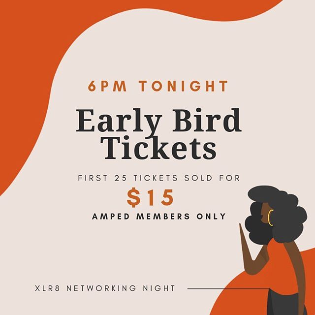 🔸🔶 EARLY BIRD TICKETS 6PM TONIGHT! 🔶🔸 the Early Bird gets the 🐛 (and the Early Bird Tickets!). The first 25 tickets sold are just $15 💸 AMPed members only 🧡 LINK IN BIO. General Release for members and non-members TOMORROW 6PM.
