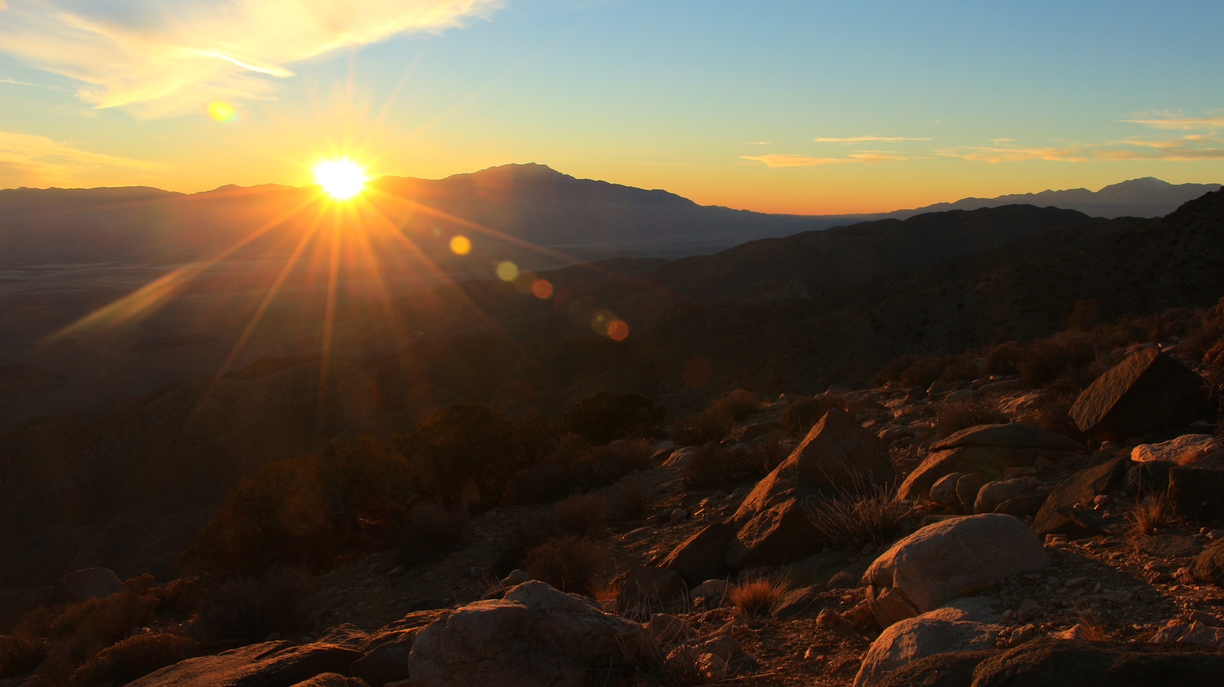 Sunset over the Indio Hills from Keys View, Joshua Tree National Park