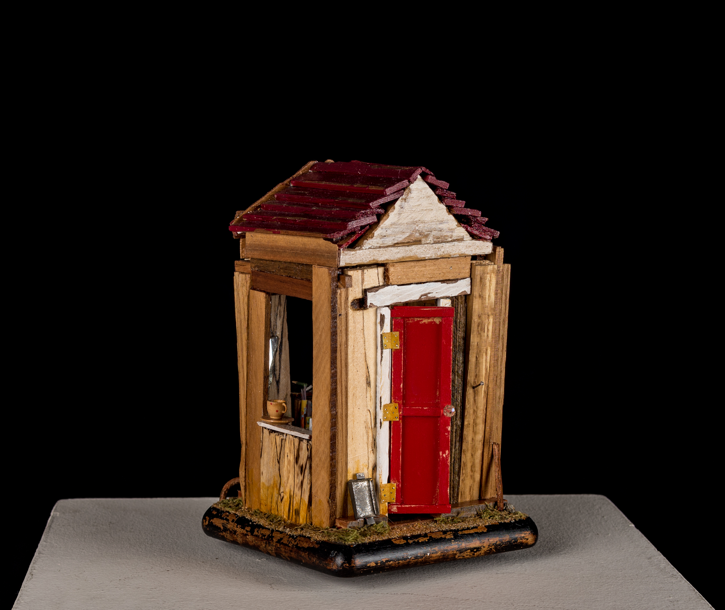 "The Shed (10"" x 6"" x 6"") assemblage"