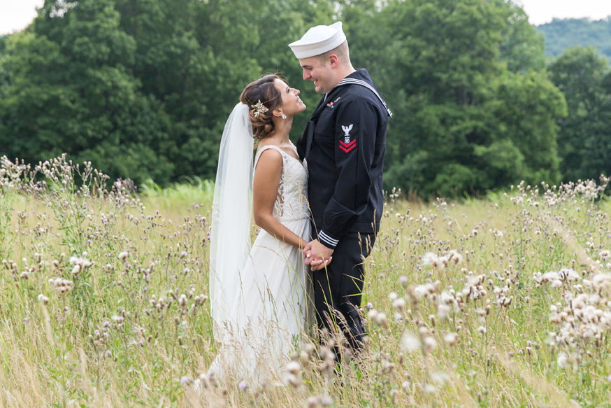 Navy sailor married his gorgeous bride at the Riverview Country Club in Easton PA. Photography by Smile Peace Love Photography. NEPA Wedding Photographer