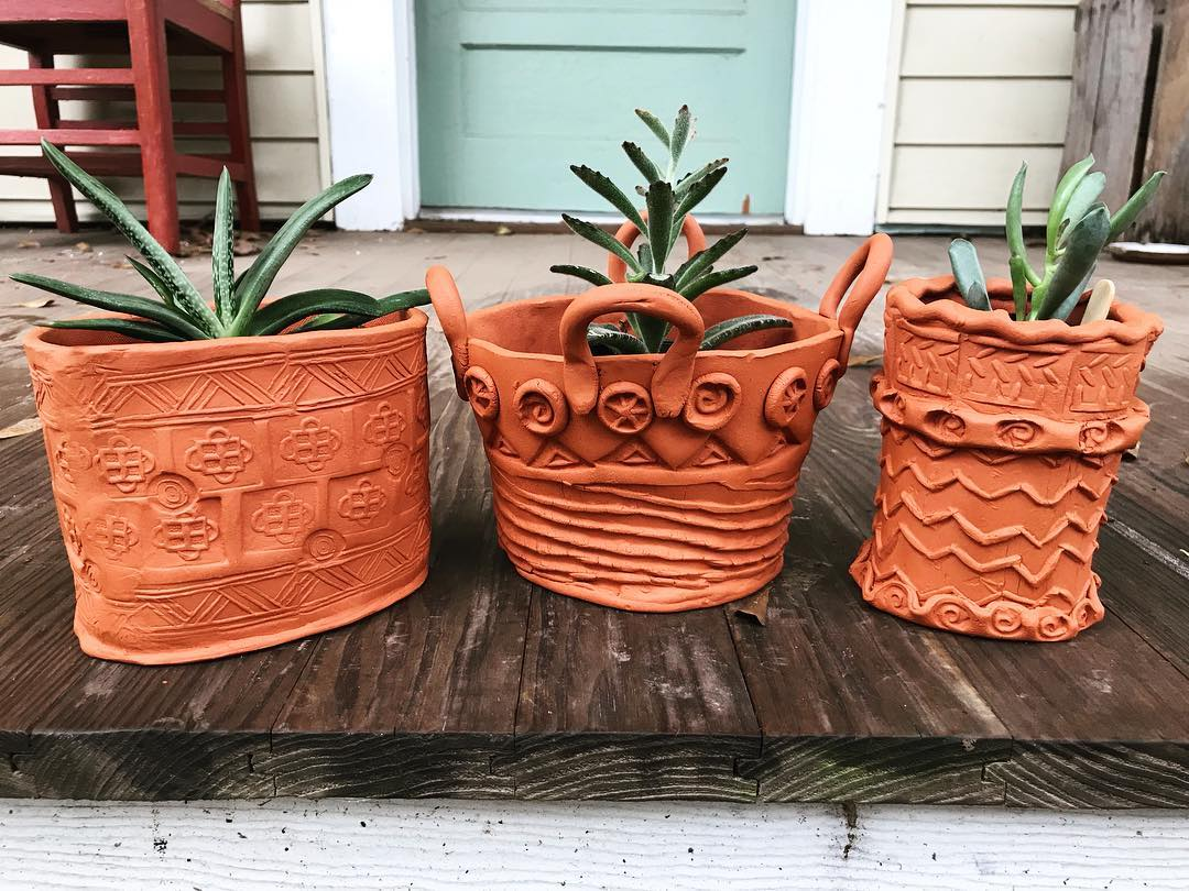 Handbuilding with Clay: Making Unique Terracotta Planters - January & February 2018Hello, clay lovers! In this class, we will be making our own decorative tools and then using them to hand build. We will create bisque stamps from clay that will help us to create personalized and unique textures and patterns on clay slabs and then use the slabs to make plant pots. We'll have a small selection of succulents available on the last day of class for you to plant in your new pots. All skill levels welcome.The Journey Lab, 731 Franklin Street Baton Rouge, LA 70806 United State