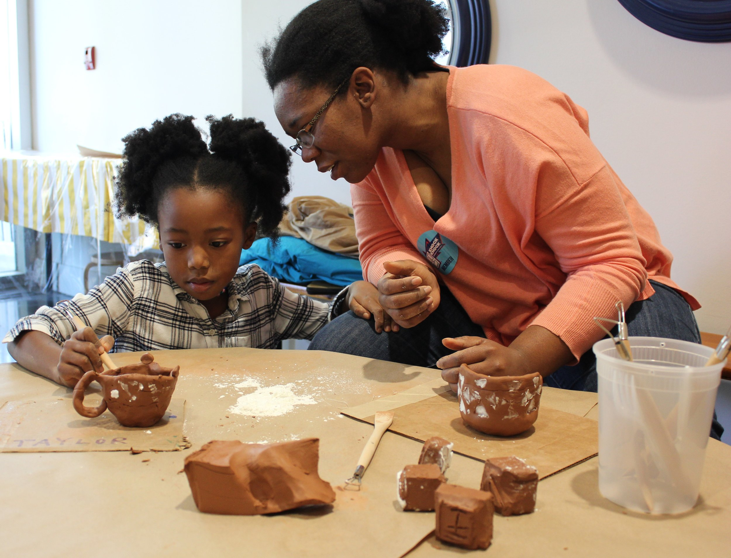 Terracotta Textures - Saturday, January 19, 2019Studio potter and teaching artist Osa Atoe explores all things lumpy, bumpy, and smooth with terra cotta clay. Children will use artist-quality tools to carve a stamp to create geometric patterns on hand-built clay vessels. Workshops will run from 10:00 a.m. to 2:00 p.m.The Knock Knock Museum, 1900 Dalrymple Dr, Baton Rouge, LA 70808