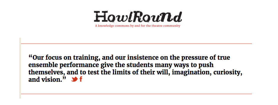 Read our interview on  HowlRound !