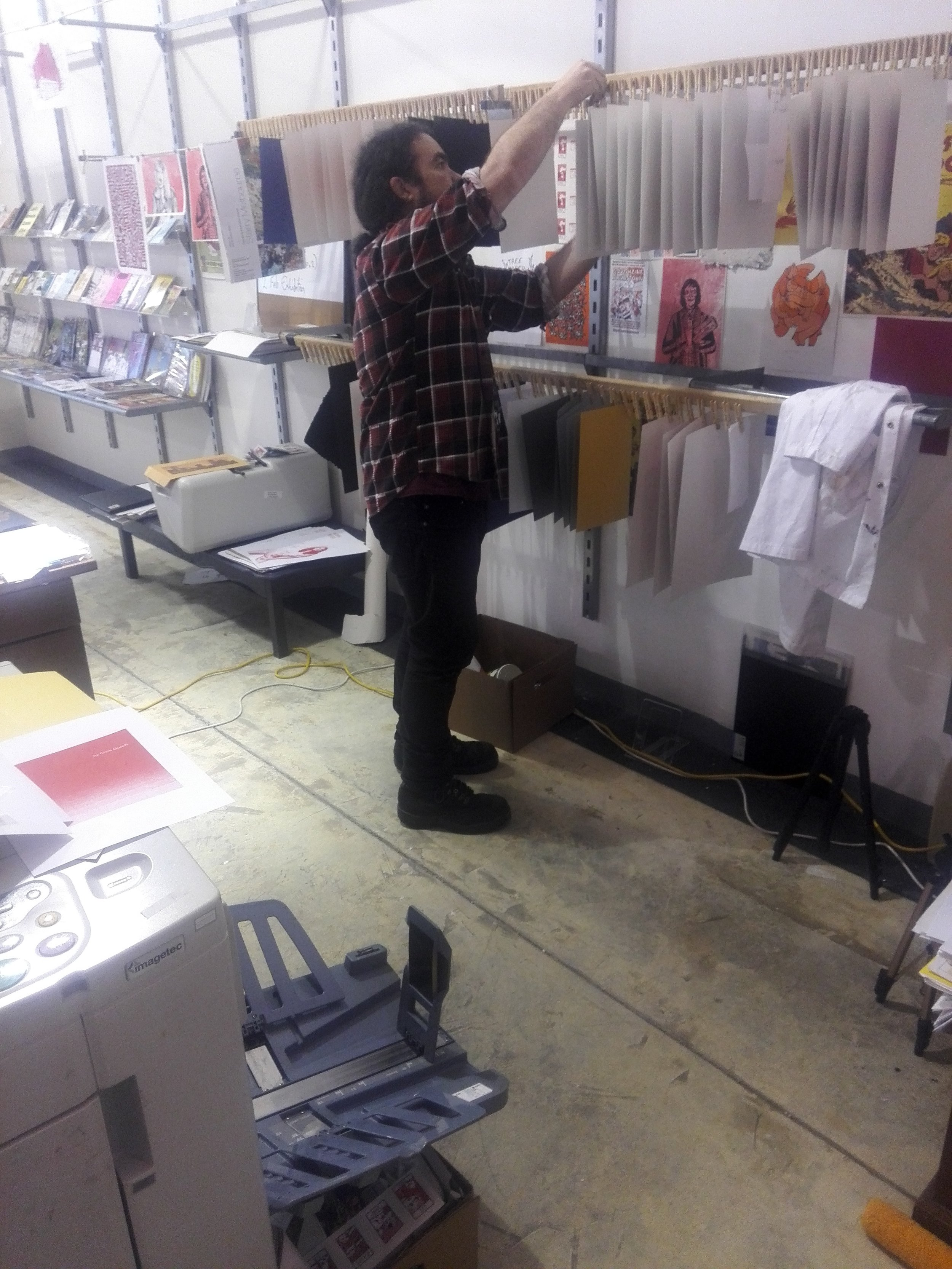 Ben Hutchings printing and pegging