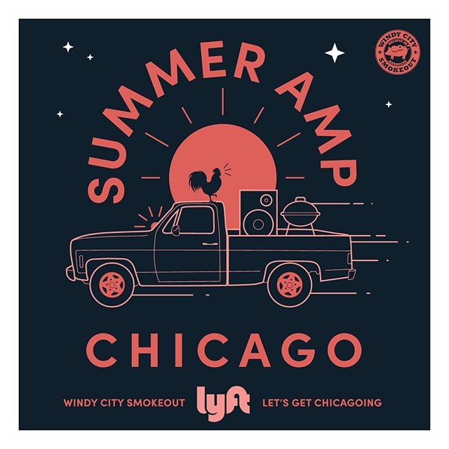 Pull up to the Chicago Summer Festival Scene like. See you at Lolla this weekend @lyft . . .  #lollapalooza #pitchfork #summer #branding #festivals #graphicdesign