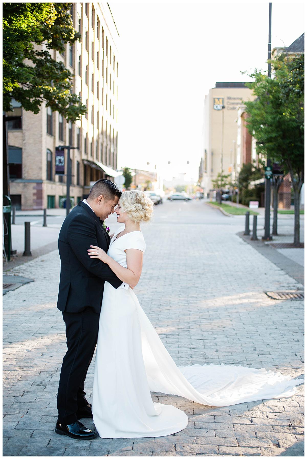 romantic high falls la luna wedding