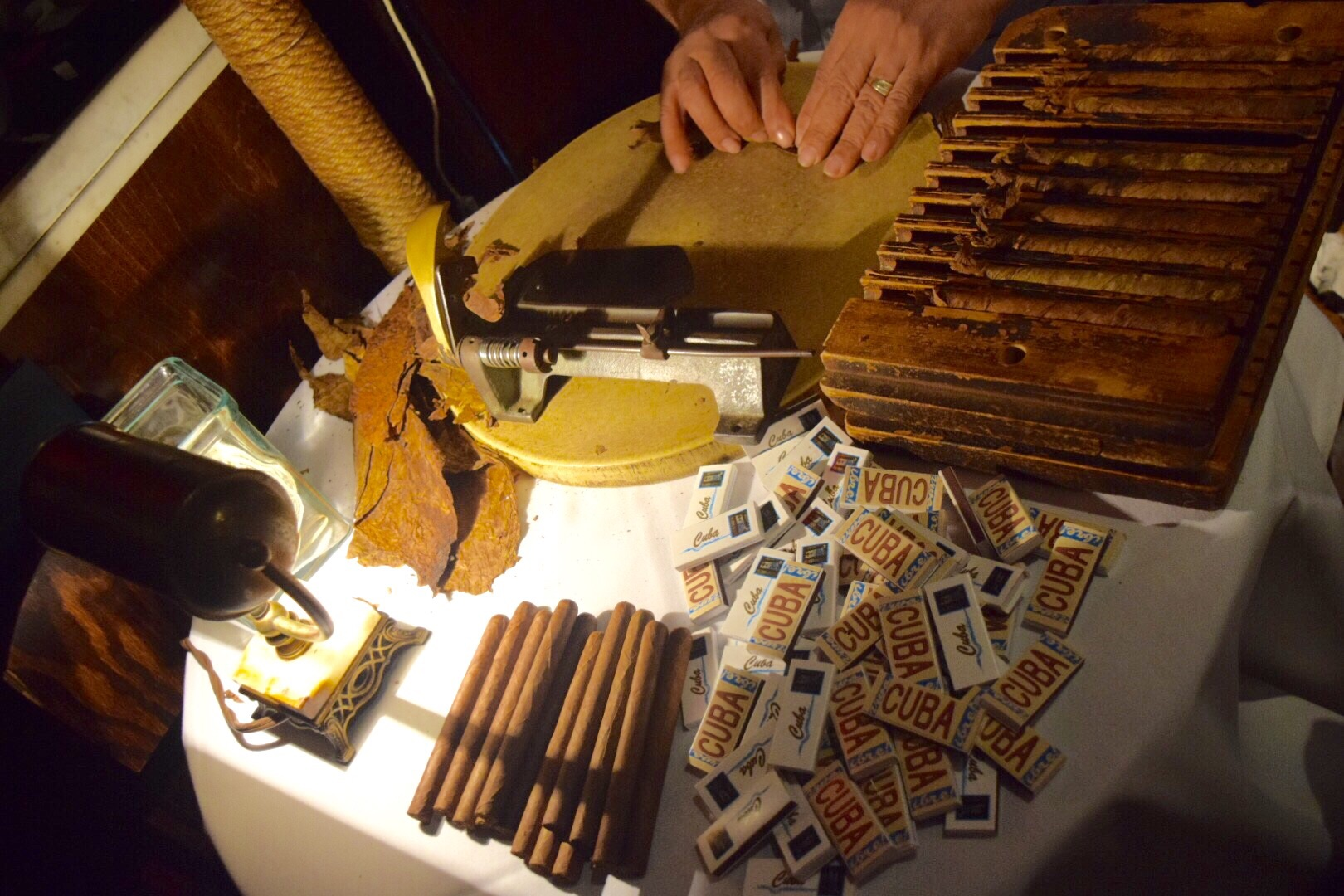 What's a birthday in Cuba without hand rolled cigars?