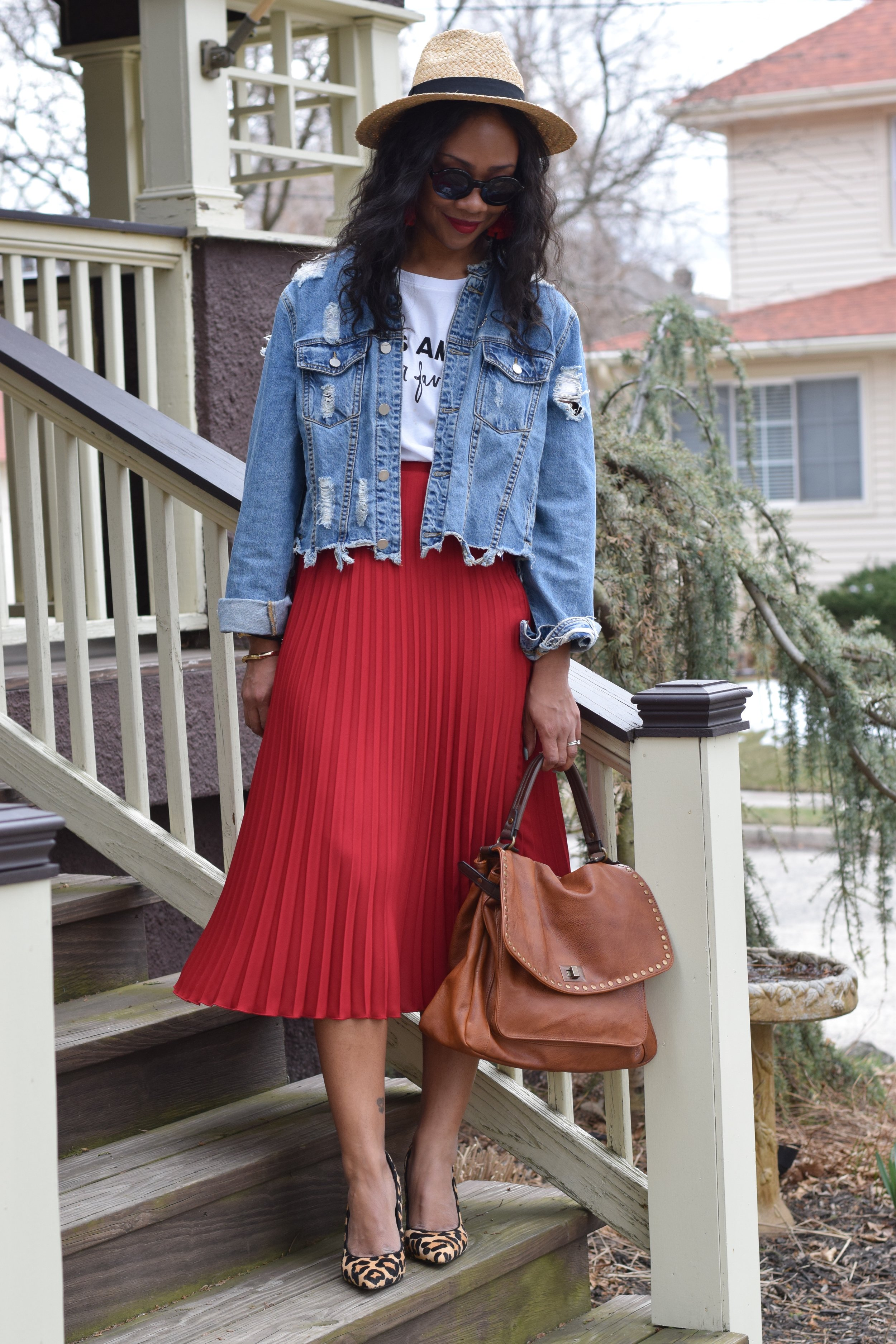 Shoes - ASOS (@ASOS); skirt - H&M (@hm); bag -Vici Collection (@vicidolls); shirt & hat - Target (@targetstyle)
